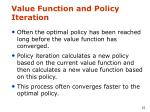 value function and policy iteration