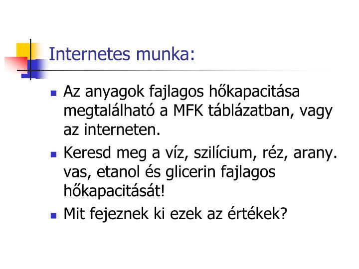 Internetes munka: