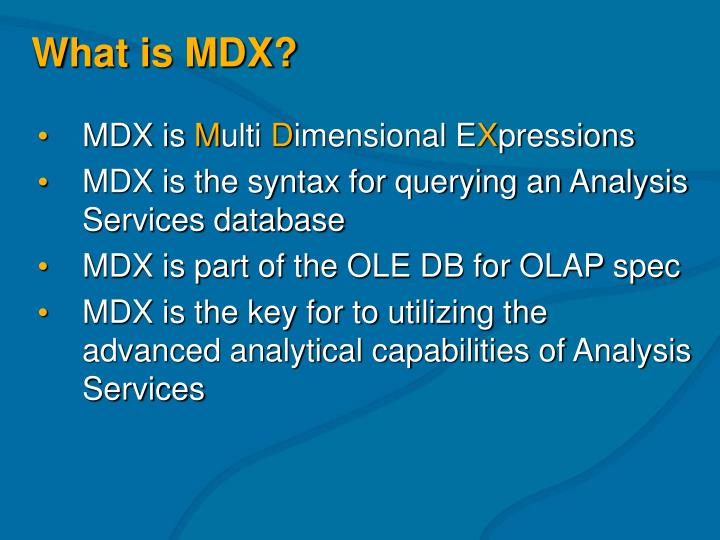 What is mdx