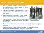 key slf business challenges