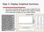 step 3 display graphical summary