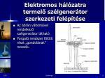 elektromos h l zatra termel sz lgener tor szerkezeti fel p t se