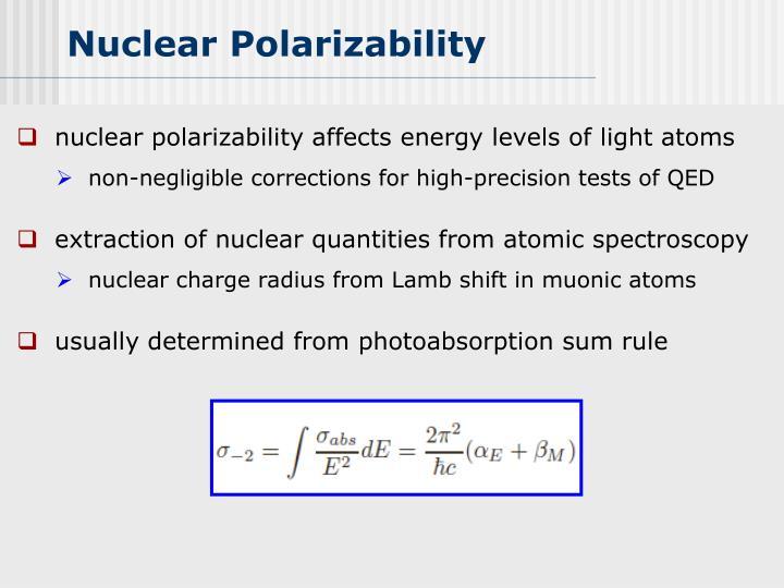 Nuclear Polarizability