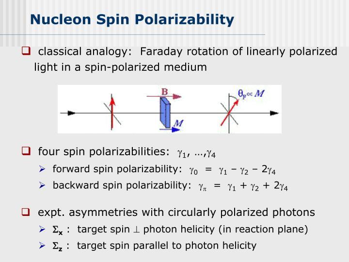 Nucleon Spin Polarizability