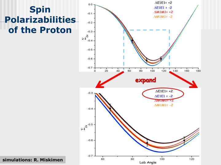 Spin Polarizabilities of the Proton