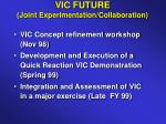 vic future joint experimentation collaboration