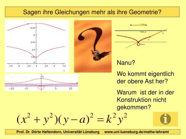 Sagen ihre Gleichungen mehr als ihre Geometrie?