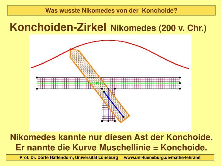 Was wusste Nikomedes von der  Konchoide?