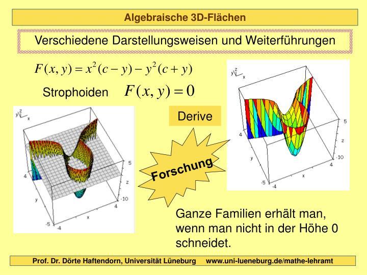 Algebraische 3D-Flächen