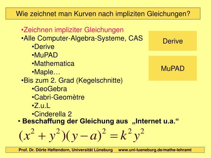 Zeichnen impliziter Gleichungen