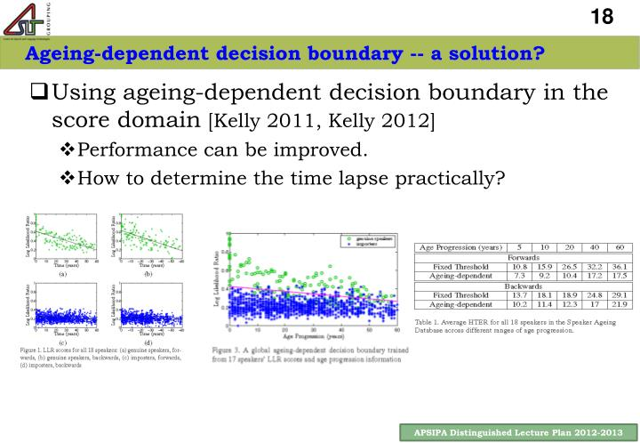 Ageing-dependent decision boundary -- a solution?