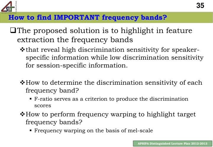 How to find IMPORTANT frequency bands?