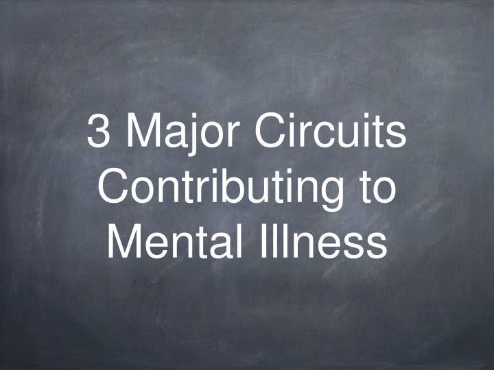 3 Major Circuits Contributing to