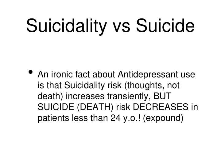 Suicidality vs Suicide
