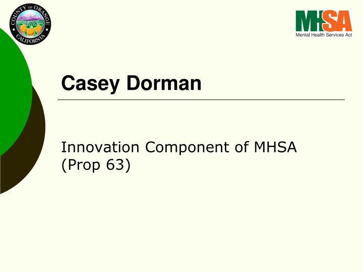 Casey Dorman