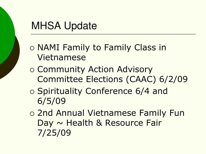 MHSA Update