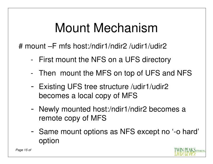 Mount Mechanism