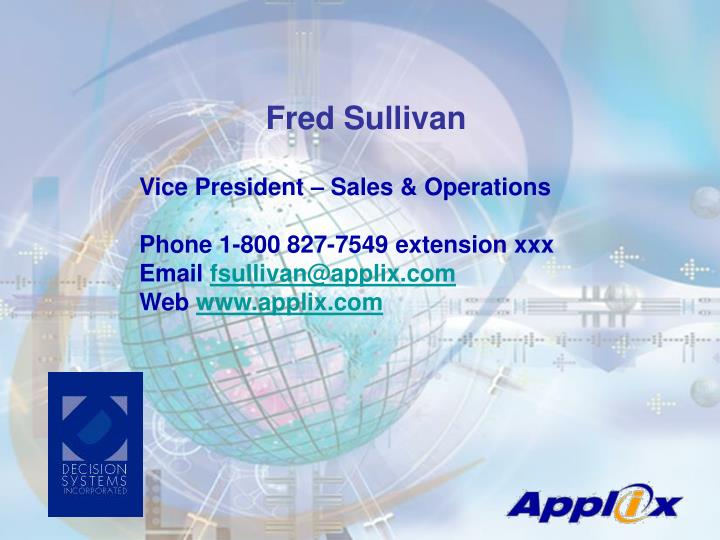 Fred Sullivan
