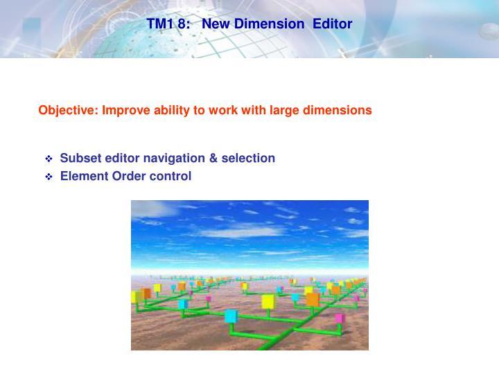 TM1 8:   New Dimension  Editor