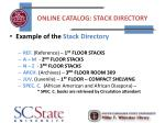 online catalog stack directory