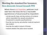 meeting the standard for issuance non domestic sexual assault ppo1