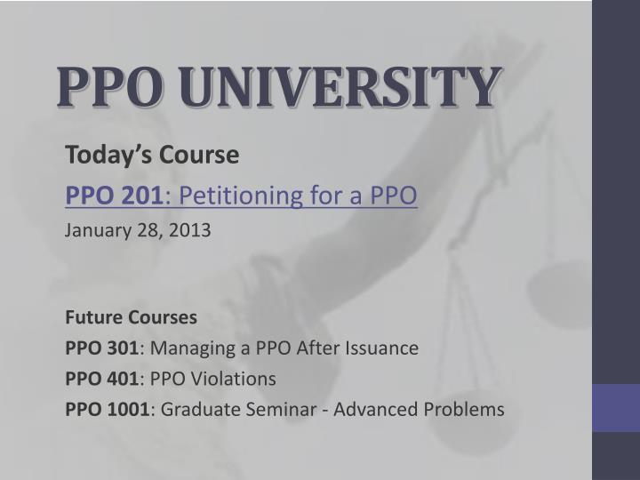 ppo university n.