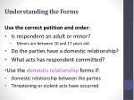 understanding the forms