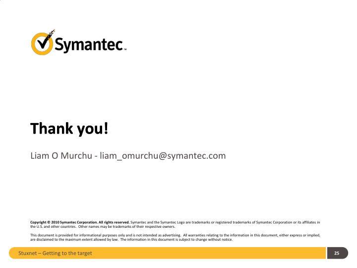 Liam O Murchu - liam_omurchu@symantec.com