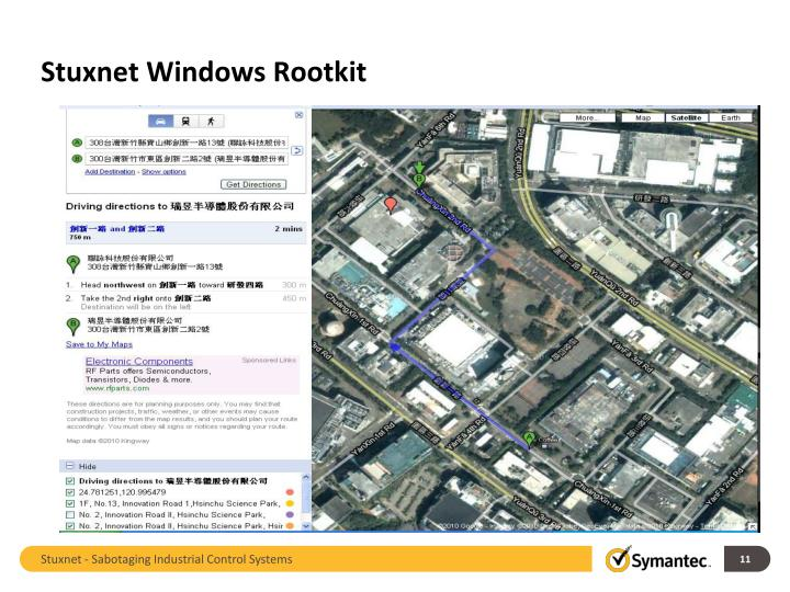 Stuxnet Windows Rootkit