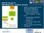 data exchange for e2e monitoring archive scenario