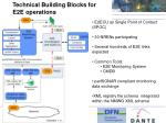 technical building blocks for e2e operations