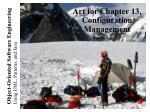 art for chapter 13 configuration management