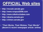 official web sites