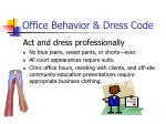 office behavior dress code