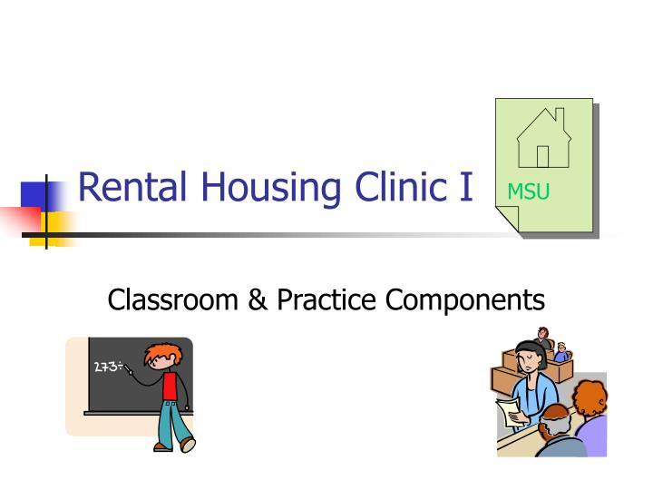 rental housing clinic i n.