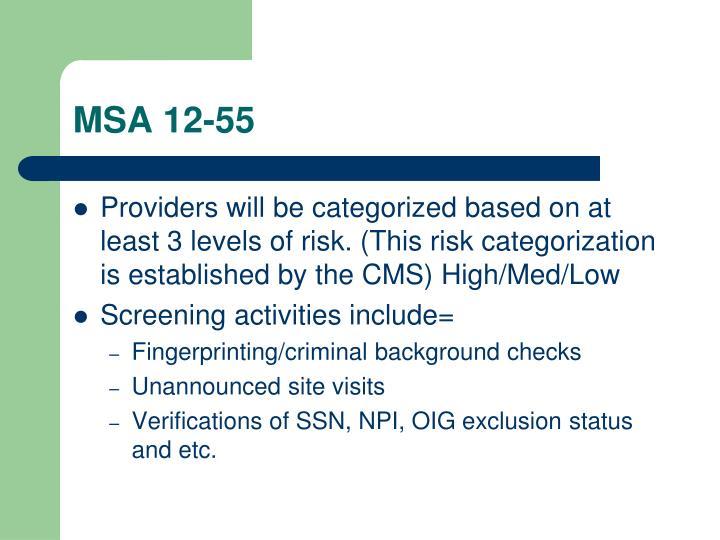 MSA 12-55