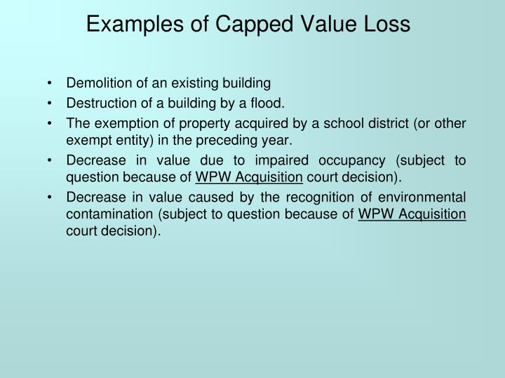 Examples of Capped Value Loss