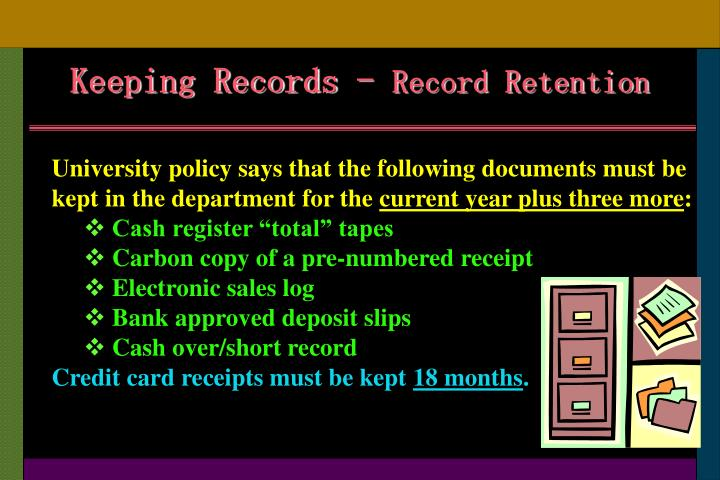 Keeping Records -