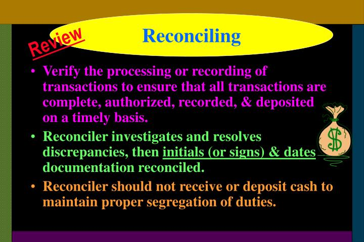 Reconciling