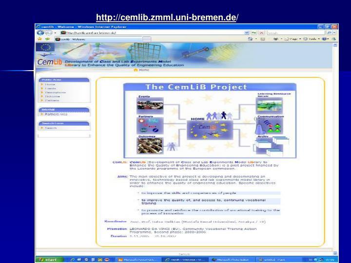 http://cemlib.zmml.uni-bremen.de