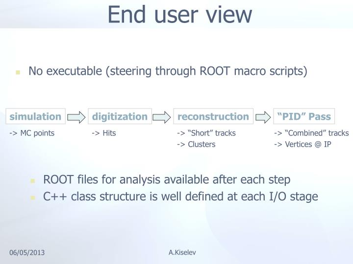End user view