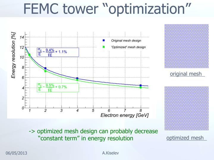 """FEMC tower """"optimization"""""""
