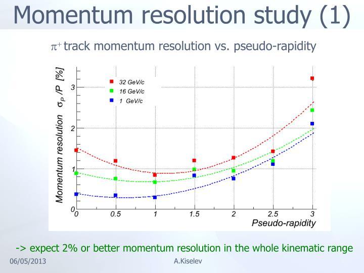 Momentum resolution study (1)