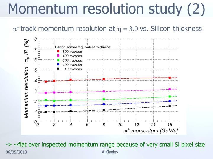 Momentum resolution study (2)