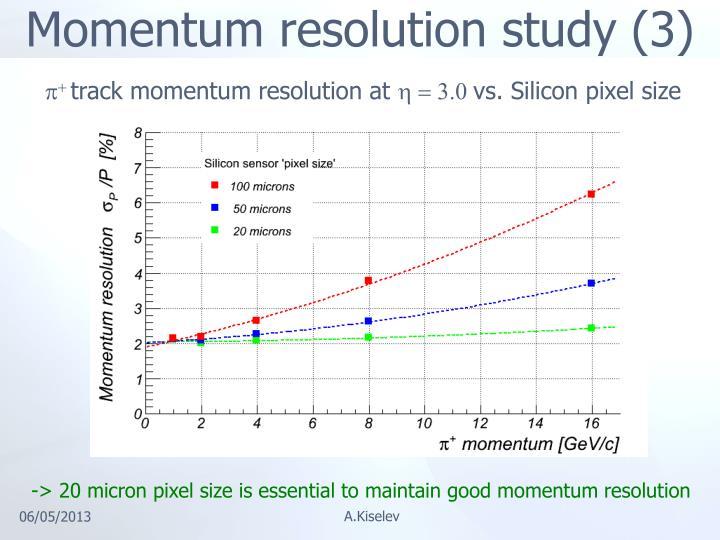 Momentum resolution study (3)