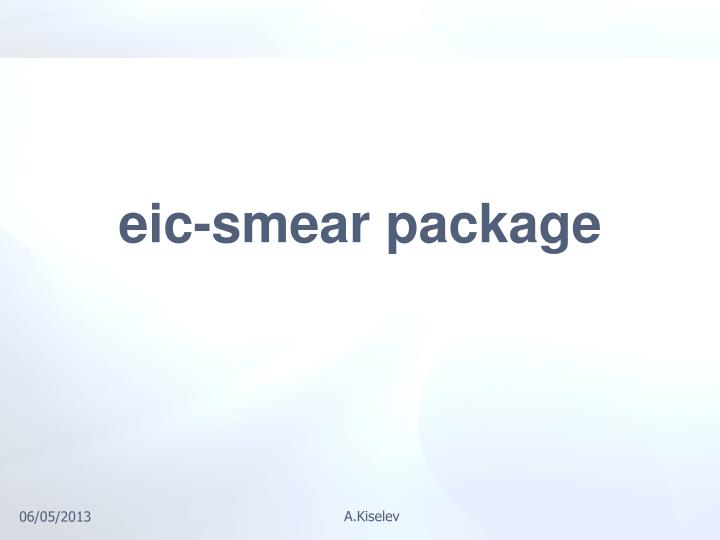 eic-smear package