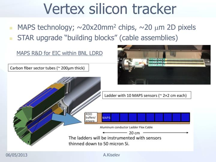 Vertex silicon tracker