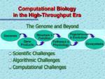computational biology in the high throughput era