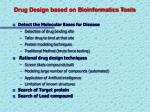 drug design based on bioinformatics tools
