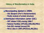 history of bioinformatics in india